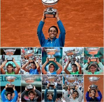 Tennis, Nadal festeggia l'11° titolo al Roland Garros