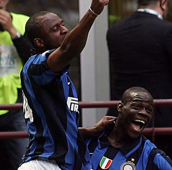 Vieira e Balotelli (Ansa)
