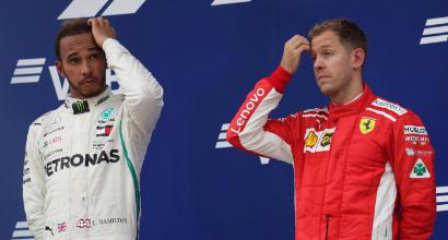 Lewis Hamilton e Sebastian Vettel (LaPresse)