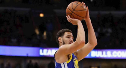 Golden State, Thompson nella storia: 52 punti con 14 triple