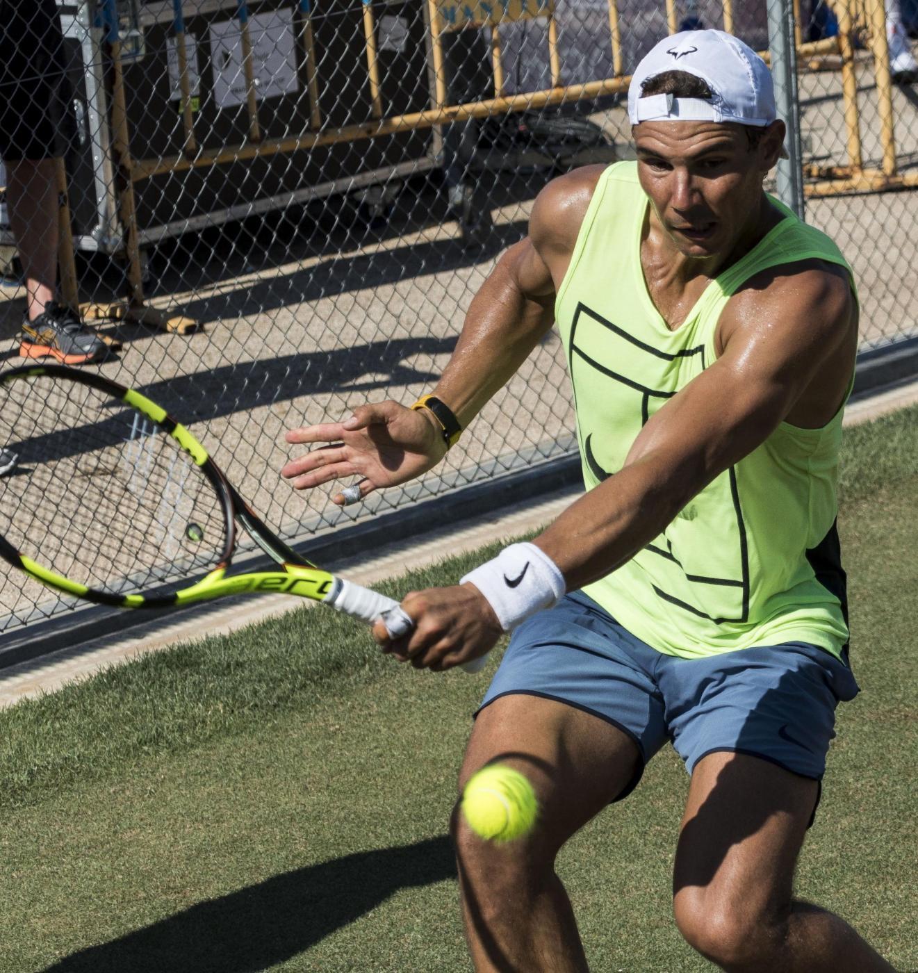 Wimbledon, Rafa Nadal si prepara per l'erba
