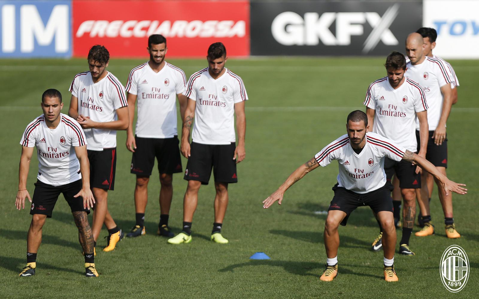 Milan in campo per preparare l'Europa League