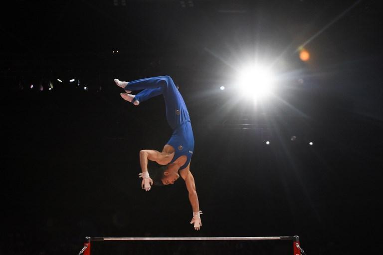 L'esercizio di Tommaso De Vecchis durante i Campionati Europei a Glasgow (11 agosto)