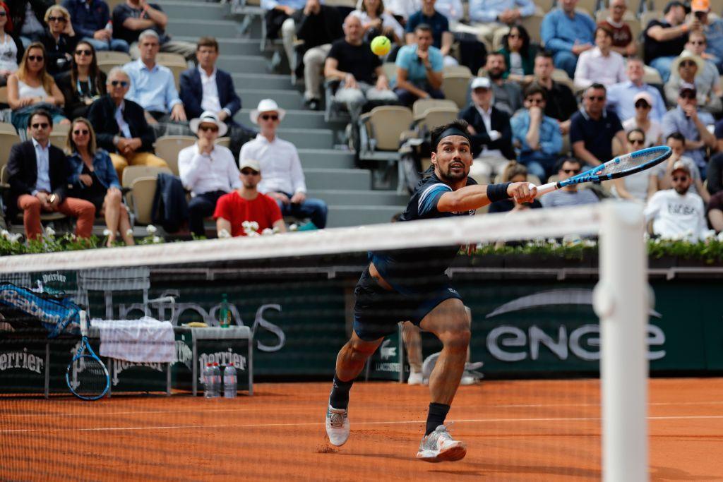 Roland Garros, Fognini saluta Parigi