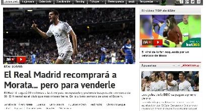 Dalla Spagna: il Real riprenderà Morata per poi venderlo all'estero
