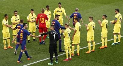 Liga: manita del Barcellona, Real Madrid ko