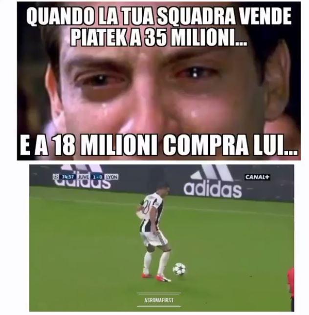 Il centrocampista passa al Genoa dalla Juventud per 16,5 milioni e sul web i tifosi se la ridono
