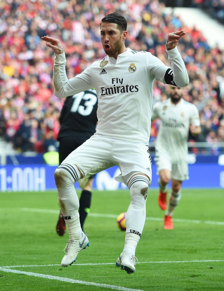 Atletico-Real, Sergio Ramos segna e sfotte Griezmann. Ombrello di Bale
