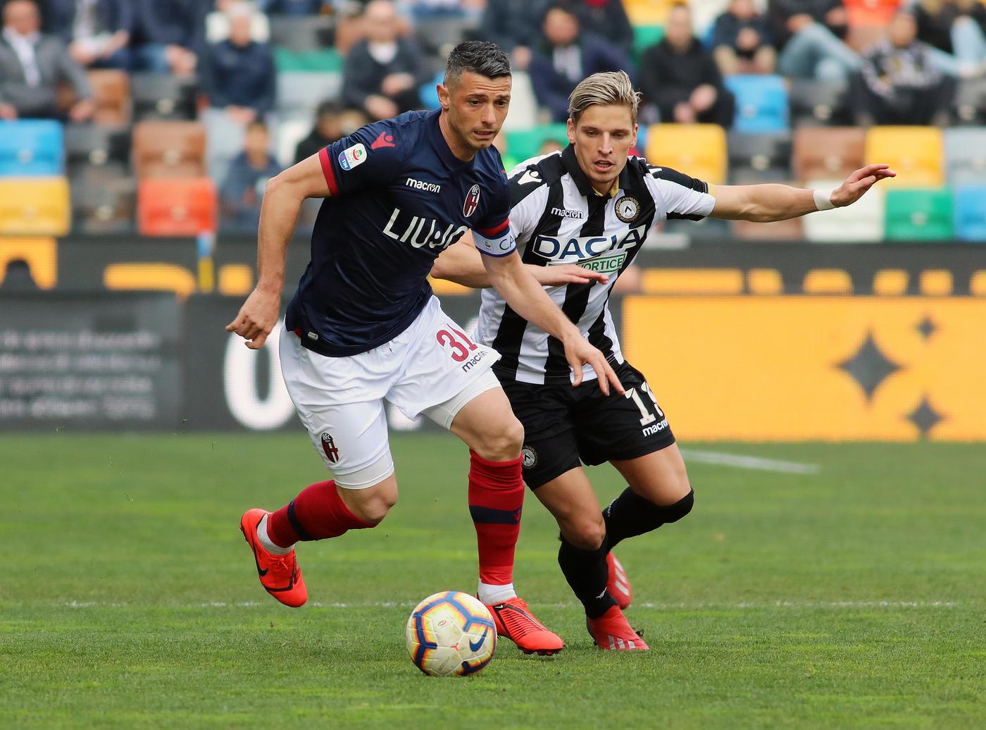 I friulani battono 2-1 il Bologna e allungano sul terz'ultimo posto<br /><br />
