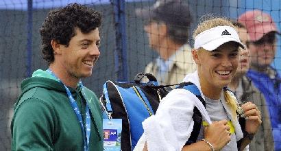 Caroline Wozniacki, Rory McIlroy, foto AFP