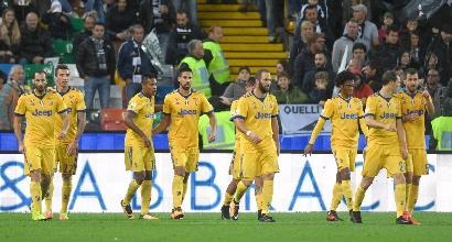 Serie A, Udinese-Juve 2-6: la squadra di Allegri in dieci uomini ma travolgente al Friuli