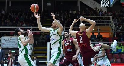 Basket, Serie A: Avellino piega Venezia all'overtime, Trento ancora ko