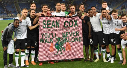 """Liverpool, Klopp: """"Dedichiamo la finale a Sean Cox"""""""