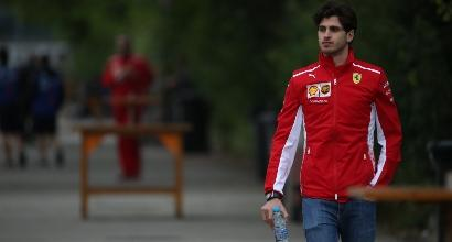 F1, Day-1 test in Ungheria: Giovinazzi su Ferrari è il più veloce