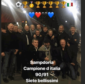 Sampdoria, cena a Milano per la squadra dello scudetto 1991