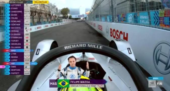 E-Prix Roma, Massa costretto al ritiro per un guasto tecnico