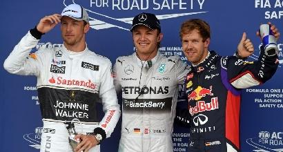 Button, Rosberg e Vettel (IPP)