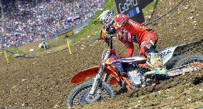 Motocross: caduta per Cairoli, due costole incrinate