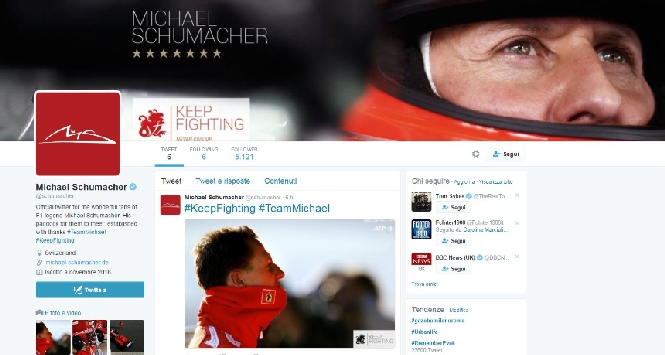 F1, Schumi sbarca su Twitter: #keepfighting