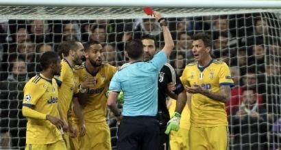 Buffon paga lo sfogo post Real Madrid-Juventus: tre turni di stop