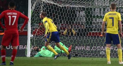 "Turchia-Svezia, Berg shock: ""L'arbitro mi ha promesso due rigori"""
