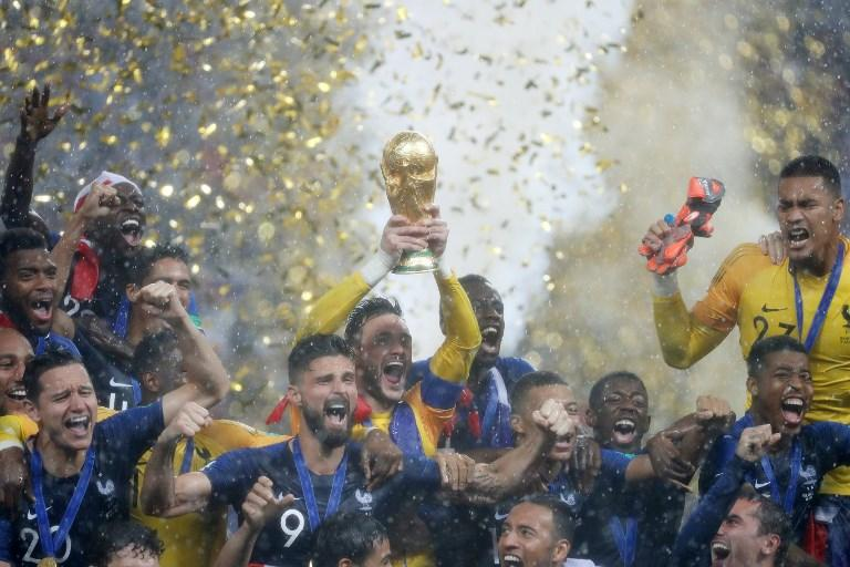 Francia campione, l'esultanza dei Galletti