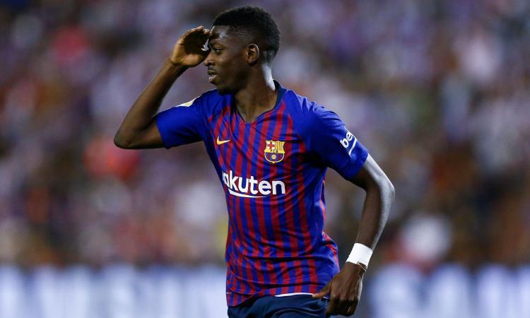 Dembelè, attaccante, pagato dal Barcellona 120 mln
