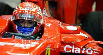 F1, test Spielberg: Fuoco, esordio e schianto