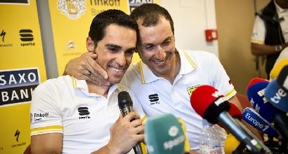 Contador e Basso (Afp)
