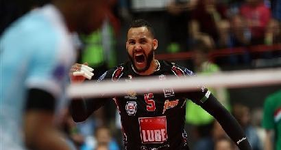 Volley: Champions al Kazan, Lube beffata al quinto set