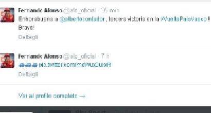 Complimenti di Alonso, foto Twitter