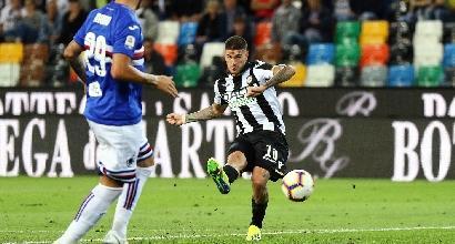 Serie A, Udinese-Sampdoria 1-0: decide De Paul, debutto amaro per i blucerchiati