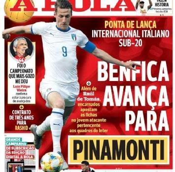 Il Benfica si fionda su Pinamonti, l'Inter chiede 20 milioni