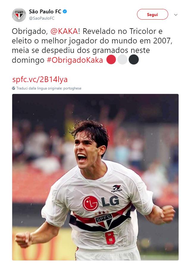 Kakà si ritira: l'omaggio del mondo del calcio