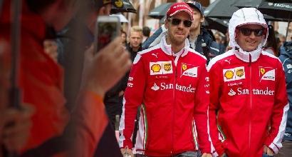 Vettel e Raikkonen (Afp)