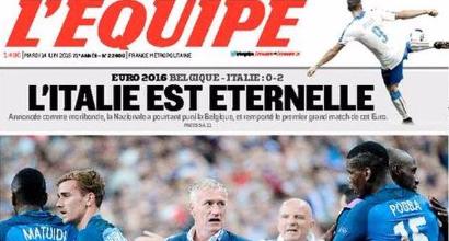 "Euro 2016, L'Equipe celebra gli Azzurri: ""Italia eterna"""