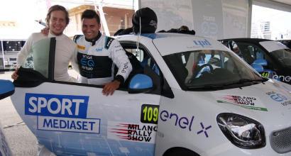 Smart EQ fortwo e-cup, prima giornata movimentata al Milano Rally Show
