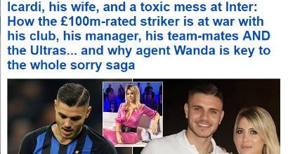 Inter, la frattura con Icardi scatena i tabloid inglesi