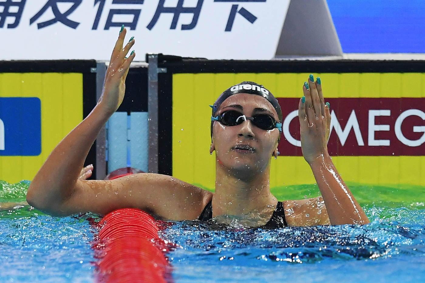 Nuoto, Quadarella argento ai Mondiali in vasca corta