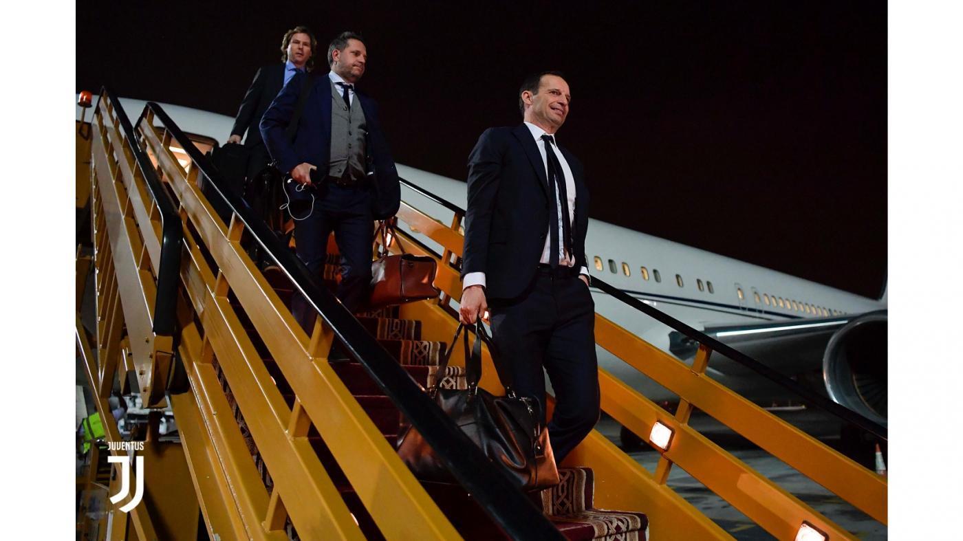 Supercoppa, la Juve è sbarcata a Gedda: le foto