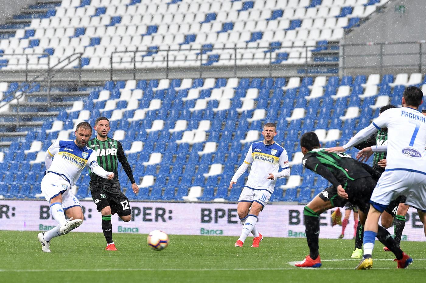 Ciociari da 2-0 a 2-2 con il Sassuolo