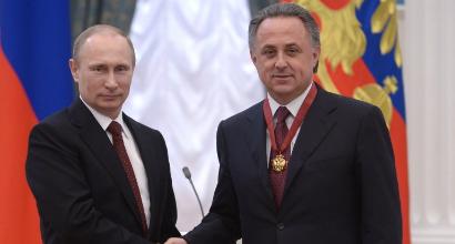 Putin e Mutko - foto Afp