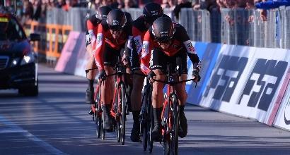 Tirreno-Adriatico 2017: la Bmc vince la cronosquadre, Damiano Caruso leader