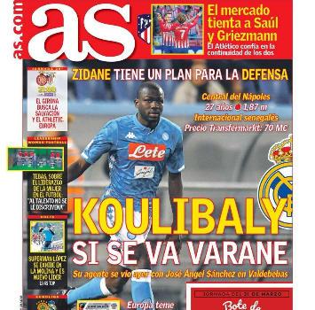 Il Real vuole Koulibaly: Ancelotti dice no e AdL si difende con la clausola di 150 mln