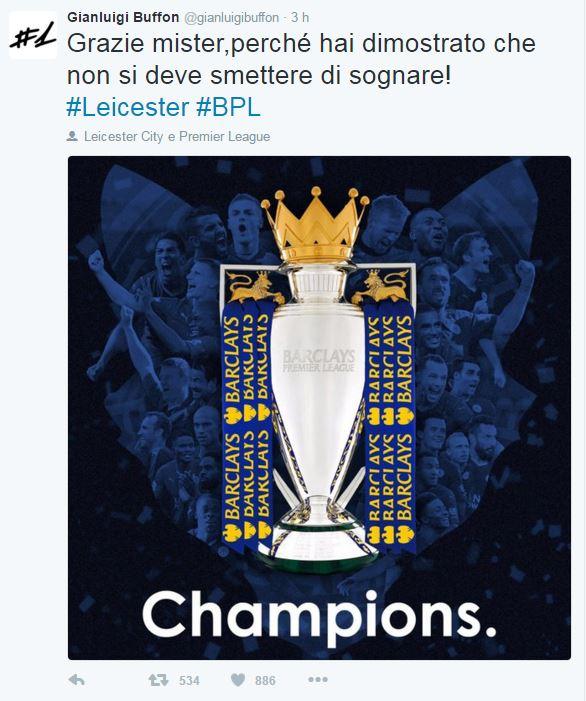 Leicester campione: quanti tweet di congratulazioni