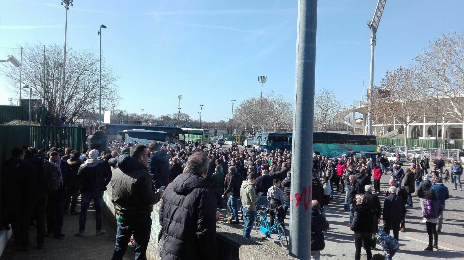 Fiorentina: la contestazione dei tifosi