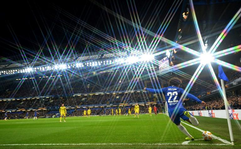 Willian (Chelsea) nel match di Champions League contro il Bate Borisov (25 ottobre)