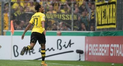 Aubameyang spaventa il Dortmund