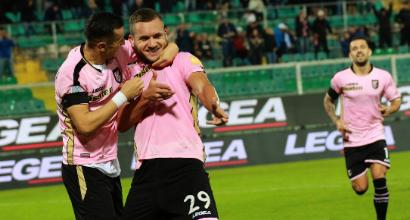 Serie B: Il Palermo stende il Pescara e vola in vetta, poker del Brescia sul Verona