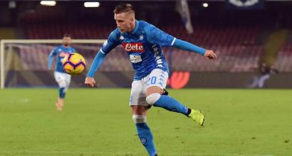 """Napoli, Zielinski: """"Scudetto? Noi non molliamo, possiamo accorciare sulla Juve"""""""